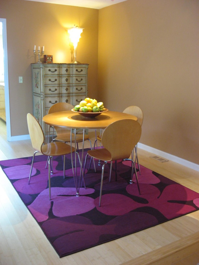 awesome-purple-carpet-color-dining-room